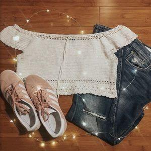 Knit crop top!